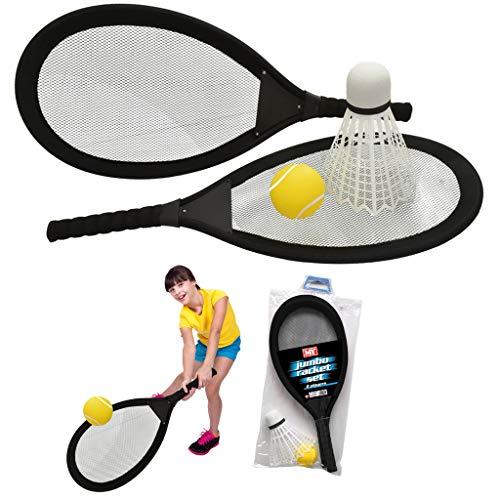 Toyland 65cm Jumbo Tennis Badmintonschläger mit Federball und Tennisball