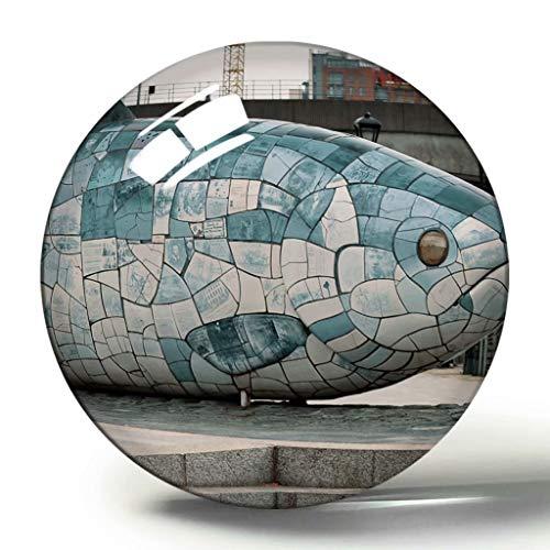 Großbritannien England Belfast Lagan Wehr und Lookout 3D Kühlschrank Magnet Souvenir Collection Reisegeschenk Kreis Kristall Kühlschrank Magnete