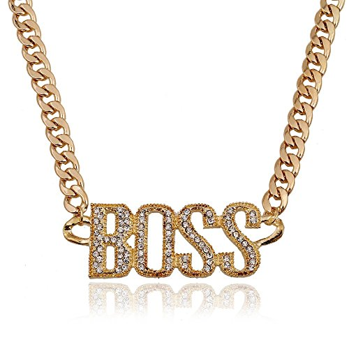 BABO Lude Macho Prolethen Hiphop Rapper Kette Necklace BOSS Strass Bling Bling