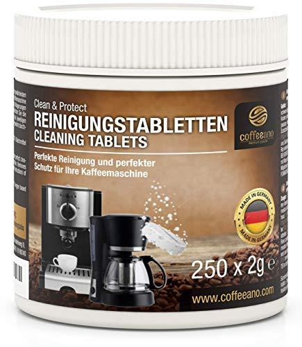 Coffeeano 250 Reinigungstabletten für Kaffeevollautomaten und Kaffeemaschinen Clean&Protect. Reinigungstabs kompatibel mit Jura, Siemens, Krups, Bosch, Miele, Melitta, WMF uvm.