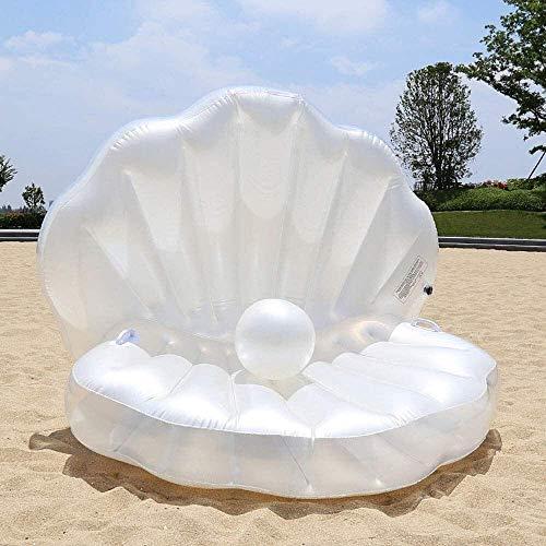 HJQFDC Faltungsschwimmbad, aufblasbare schwimmende Reihe, fächerförmige Perlenkugeln schwimmende Bett, aufblasbare Schwimmbett Meerjungfrau, Sommer Strand Spielzeug Party Spielzeug Peng MEI