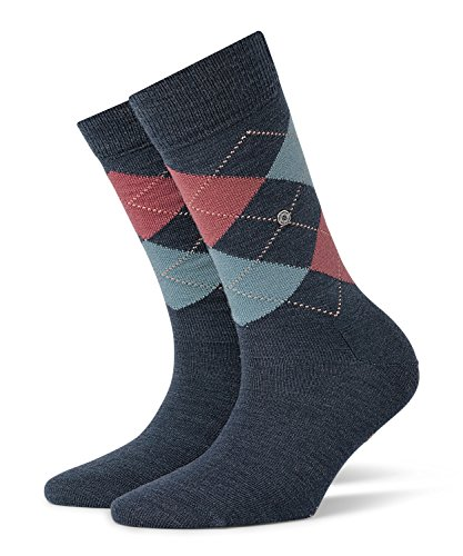 BURLINGTON Damen Socken Marylebone - Schurwollmischung, 1 Paar, Blau (Dark Blue Melange 6688), Größe: 36-41