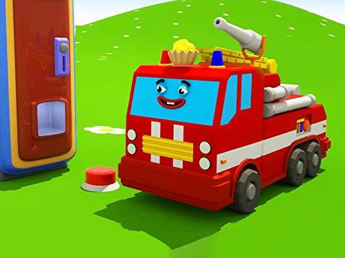 Farben lernen mit intelligentes Feuerwehrautos