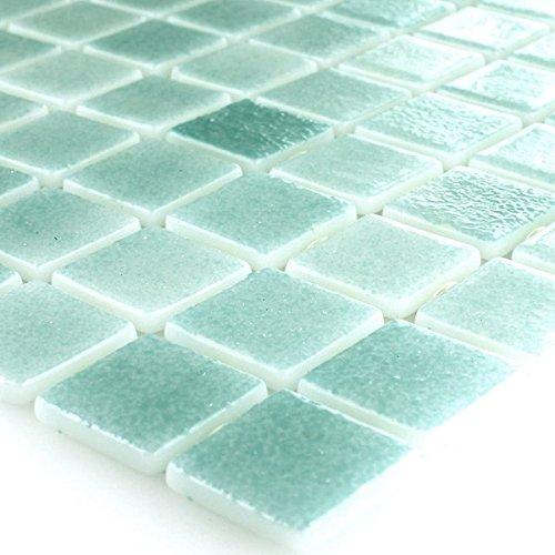 Glas Schwimmbad Pool Mosaik Fliesen Türkis Mix
