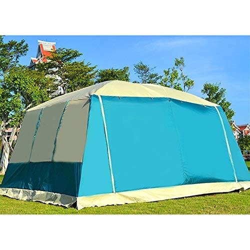 Xhtoe Außenzelt Out Door Camping mit erweiterbarer Tragetasche und Zelt für Camping Wandern (Color : Blue, Size : One Size)