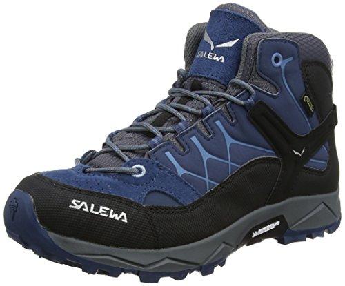 Salewa JR Alp Trainer Mid Gore-TEX Trekking- & Wanderstiefel, Dark Denim/Charcoal, 31 EU