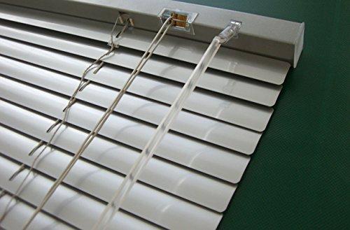 Unbekannt Alu Jalousie Silber - Breite 40 bis 240 cm - Höhe 130/160 / 220 cm - Tür Fenster Rollo Jalousette Aluminium Fensterjalousie Lamellen Metall (200 x 160 cm)