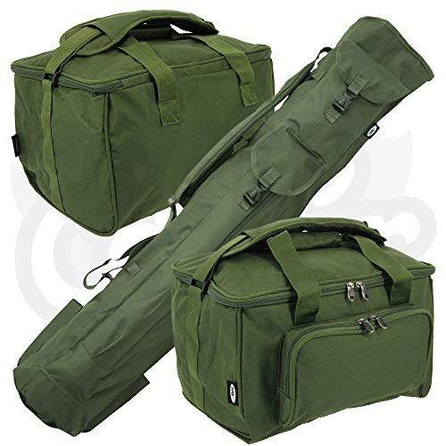 NGT Angel-Set zum Karpfenangeln, Gepäck-Set, Köderköcher, Rutentasche & gepolsterte Angeltasche