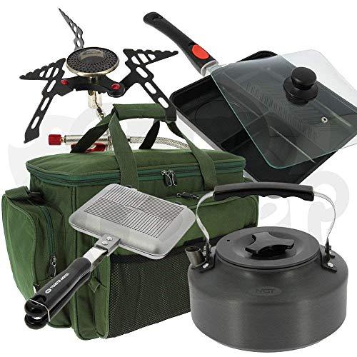 NGT Angeln Camping Kochen Bundle + Carryall Ofen Toaster Bratpfanne + Wasserkocher