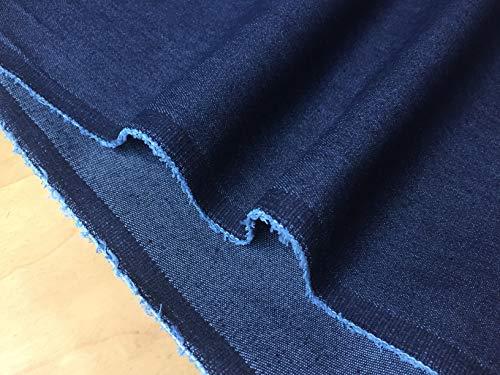 LushFabric Denim-Stoff, Denim, Stretch, Jeansstoff, Baumwolle, 140 cm breit, 1 Meter