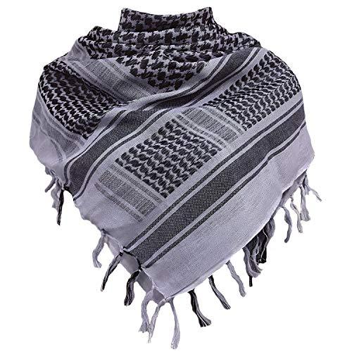 Chalier Shemagh Palästinenser Tuch 100% Baumwolle Militär Tactical Desert Schal Arabischer Wüsten Schals Unisex Halstuch Kopftuch Herrn und Damen MEHRWEG
