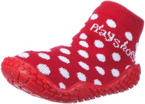 Playshoes Mädchen Aqua-Socke Punkte Dusch-& Badeschuhe, Rot (rot 8), 20/21 EU