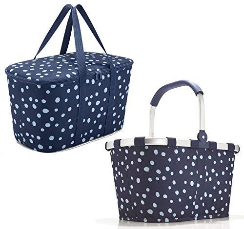 reisenthel Set carrybag spots navy BK4044 +coolerbag spots navy UH4044