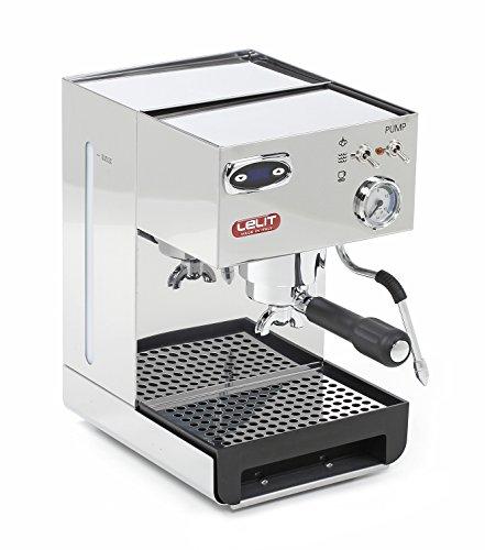 Lelit Anna PL41TEM semi-professionelle Kaffeemaschine für Espresso-Bezug, Cappuccino Pads-Kaffee-Temperaturregelung über PID-Steuerung-Edelstahl-Gehäuse, Stainless Steel, 2 liters, Silber