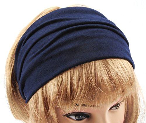 axy HB4 Haarband Yoga Headband Hairband (Dunkelblau)