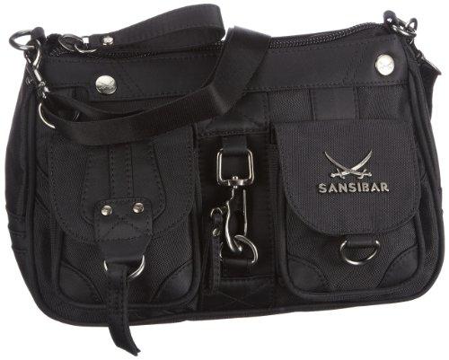 Sansibar B-488 CA Damen Schultertaschen 26x17x10 cm (B x H x T), Schwarz (black)