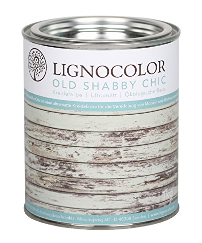Kreidefarbe (Weiss) Shabby Chic Lack Landhaus Vintage Look 1kg