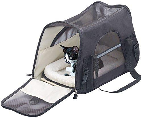 Sweetypet Hundetasche: Hand- & Auto-Transporttasche für Haustiere bis 8 kg, Größe M, schwarz (Katzentasche)