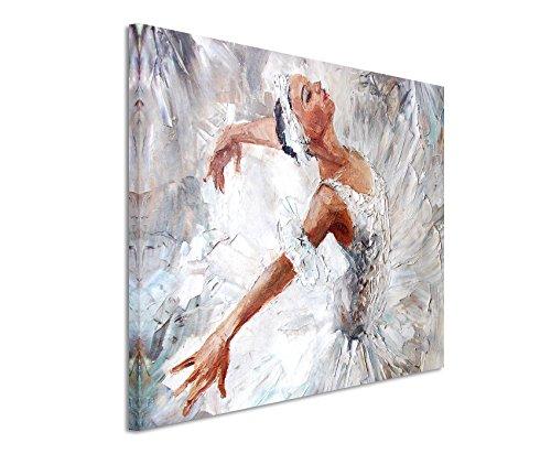XXL Fotoleinwand 120x80cm Ölgemälde – Ballerina auf Leinwand exklusives Wandbild moderne Fotografie für ihre Wand in vielen Größen