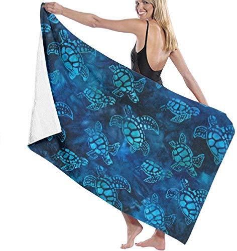 Ches Watercolor Blue Sea Turtle Damen Spa Dusch- und Wickeltuch, Bademantel, Weiß, siehe abbildung, Einheitsgröße
