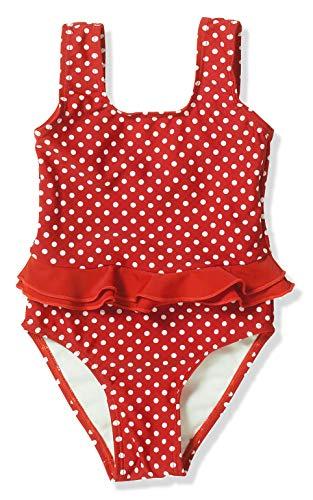 Playshoes Mädchen Badeanzug UV-Schutz Punkte, Rot (8 rot), 74/80