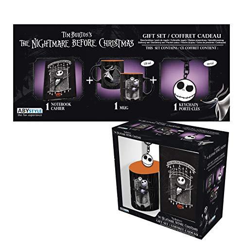 ABYstyle - Disney - The Nightmare Before Christmas - Geschenk Box - Jack - Tasse 320 ml + Schlüsselanhänger + Notizbuch