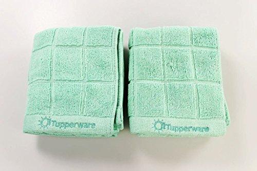 TUPPERWARE 2x FaserPro Küche Mikrofasertuch Abtrocknen Geschirr türkis 27622