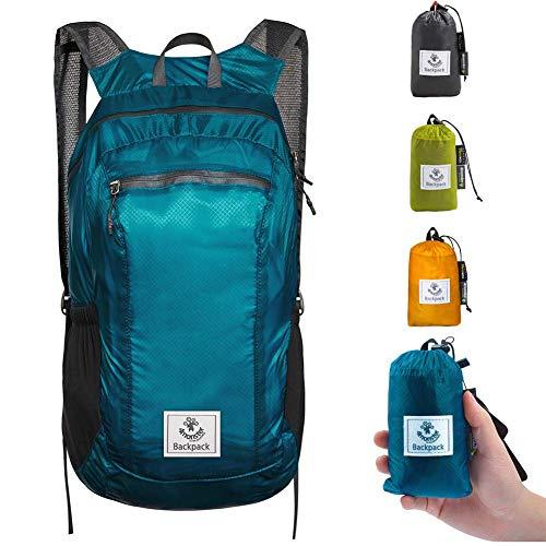 4Monster Faltbarer Rucksack Ultra Leicht, Unisex Tagesrucksack Outdoor, Wasserdichter Wanderrucksack für Camping Wandern Reisen Sport Klettern Radfahren