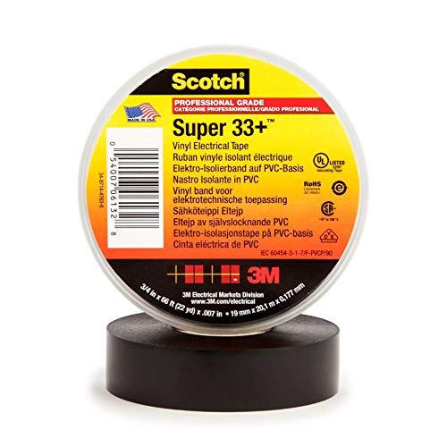 3M 33+ Scotch Super Elektro Isolierband, Vinyl, 19 mm x 20 m