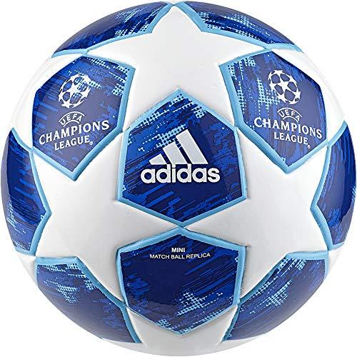 adidas Herren Finale18 Mini Fußball, White/Football Blue/Bright Cyan/Collegiate Royal, 1