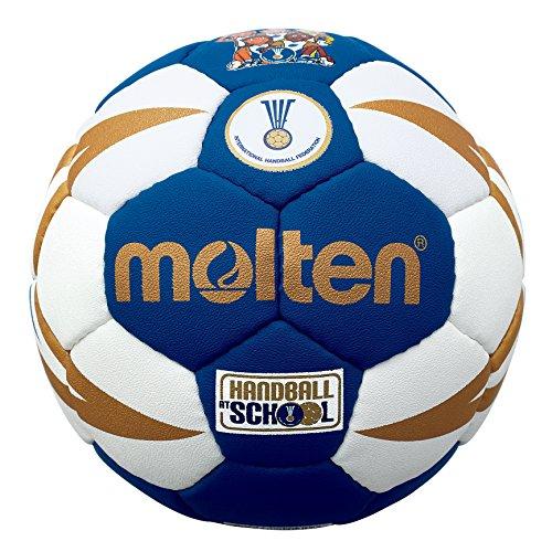 Molten Handball, IHF-geprüft, Weiß/Blau/goldfarben