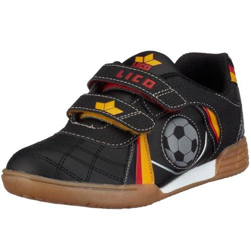 Lico Nikos V Unisex Kinder Multisport Indoor Schuhe, Schwarz/ Rot/ Gold, 36 EU