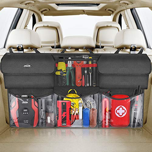 Oasser Kofferraum Organizer Auto mit wasserdichten Taschen Auto Aufbewahrungstasche Autotasche Kofferraumtasche Auto Autoorganisator
