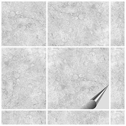 FoLIESEN Fliesenaufkleber 15x15 cm + Rakel (45 Stück + Rakel, Dekor Gorreto)
