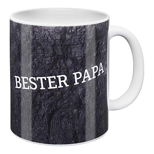 Tasse Bester Papa FC Schalke 04 + Sticker Gelsenkirchen Forever, Kaffeebecher, Kaffeetasse, Becher