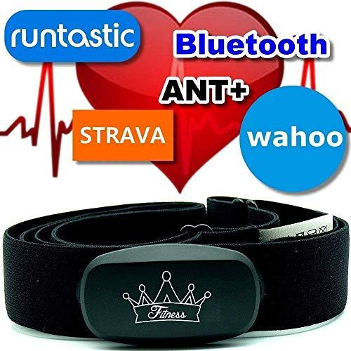 Berry King Heartbeat ANT+ & Bluetooth für Garmin Wahoo Polar RUNTASTIC Strava ENDOMONDO Tomtom Apple iPhone Brustgurt Herzfrequenzmesser HRM Sensor (Heartbeat)