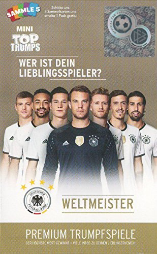 Winning Moves 62400 - Top Trumps Mini - DFB Weltmeister - Quartett