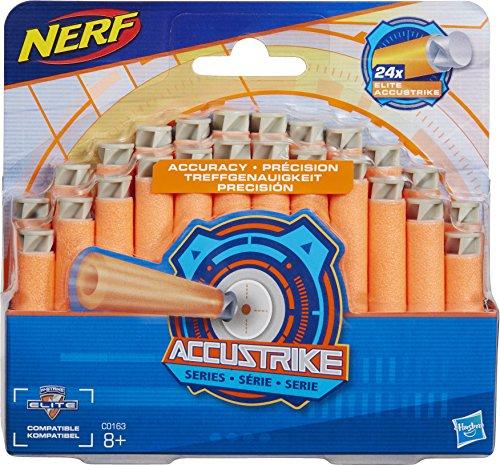 Hasbro Nerf C0163EU4 - ACCUSTRIKE Dart Nachfüllpack, Spielzeugblasterzubehör, 24er Pack