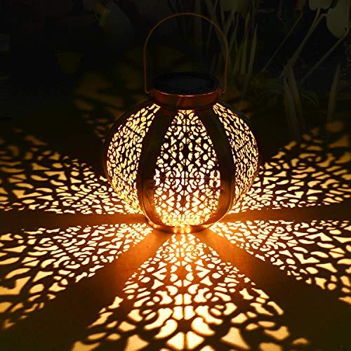 Solarlaterne für außen,Tencoz Solarlampe für Außen Gartendeko Solar Gartenlaterne LED Garten Hängende Gartenlaterne Laternen Dekorative Wasserdicht IP44 mit Lichtempfindlichkeit