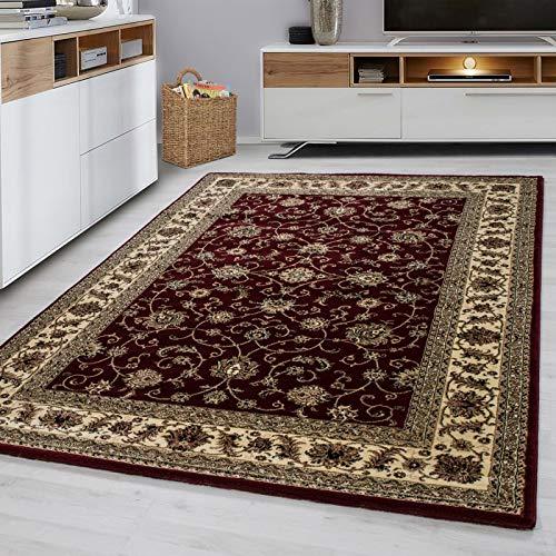 Fabelia Orientteppich Troja - Klassischer Teppich mit orientalisch-europäischen Designs (200 x 290 cm, Rot)