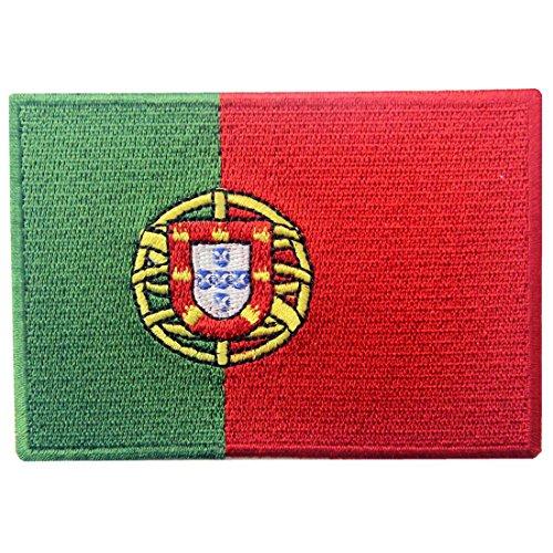 EmbTao Portugal Flagge Bestickter Portugiesisch Aufnäher zum Aufbügeln/Annähen