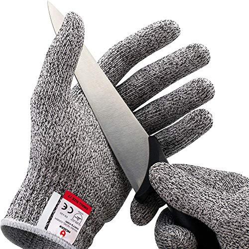 NoCry Schnittfeste Handschuhe – Leistungsfähiger Level 5 Schutz, lebensmittelecht. Größe : Medium, 1 Paar
