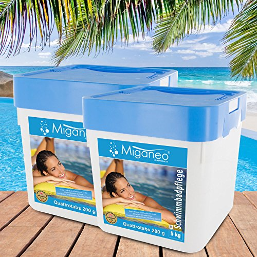 Miganeo® 200g Multitabs 5in1 Chlor-tabs Quattrotabs für Pool Ph Alegezid (10 kg)