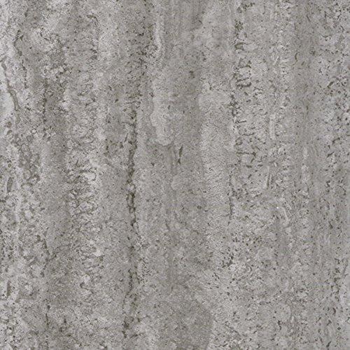 Klebefolie Industrial-Optik Beton Dekofolie Möbelfolie Tapeten selbstklebende Folie, PVC, ohne Phthalate, grau, 67,5cm x 2m, Stärke: 0,095 mm, Venilia 53145