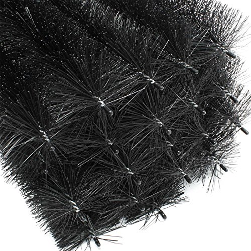 24m Dachrinnenbürste 120 cm Ø 12 cm Laubschutz Marderschutz 20 Stück