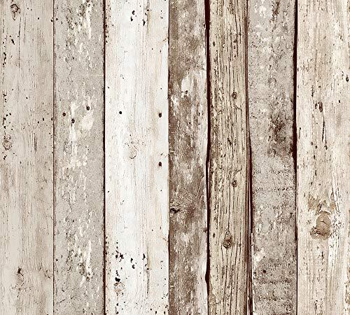 Livingwalls 942192 selbstklebendes pop.up Panel 2,50 m x 0,35 m beige braun