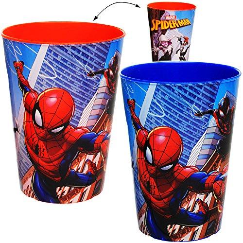 alles-meine.de GmbH 1 Stück _ 3 in 1 - Trinkbecher / Zahnputzbecher / Malbecher - Becher -  Ultimate Spider-Man  - 250 ml - Trinkglas aus Kunststoff Plastik - für Kinder - Jung..