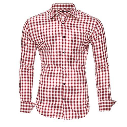Kayhan Herren Hemd, Oktoberfest Rot L