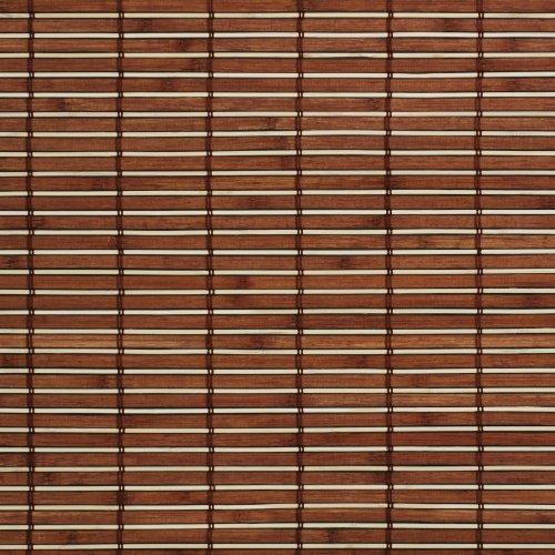Liedeco Rollo Holz mit Seitenzug, Holzrollo für Fenster und Tür braun B 100 cm x L 17.
