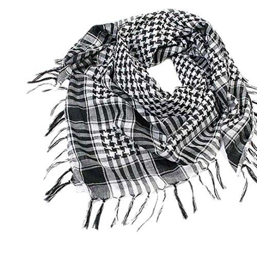 ZARU Unisex-Schal, Arbeiten arabische Palästina-Schal-Schal-Verpackung um (Schwarz)